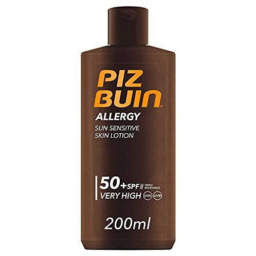 Piz Buin Allergy Protector Solar, Loción Corporal SPF 50+, Protección Muy Alta, 200 ml