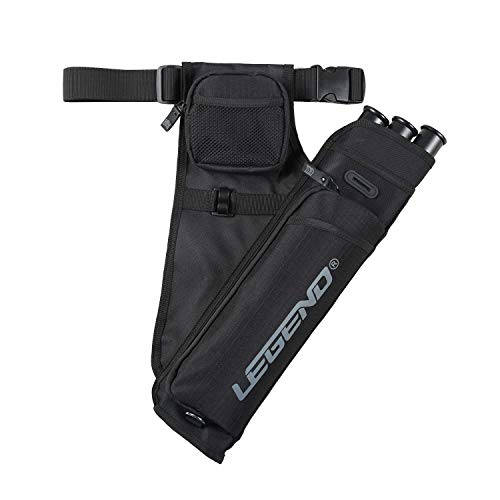 Legend Quiver First Recurve Hip Quiver for Arrows with 3 Tubes and...