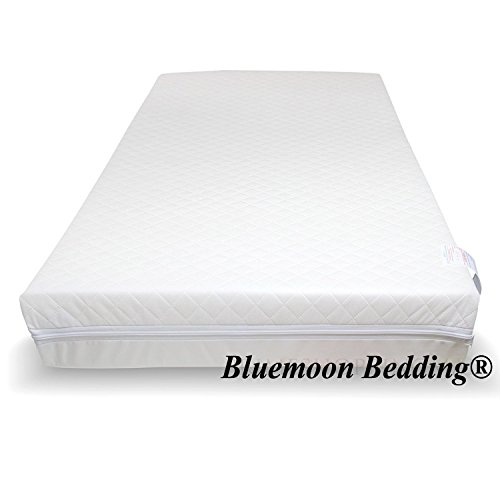 Baby Travel COT Mattress 119 x 59 x 5 cm Quilted, Anti Allergentic with Water-Resistant Cover by Bluemoon Bedding