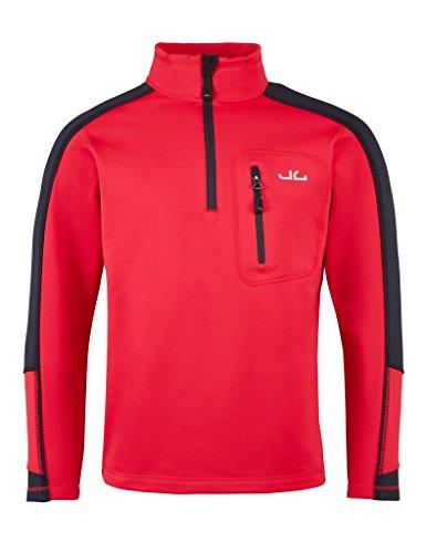 Jeff Green Herren Softshell Pullover Gent - Funktions- und Outdoor Pullover mit Thermofunktion, Größe - Herren:S, Farbe:Cherry