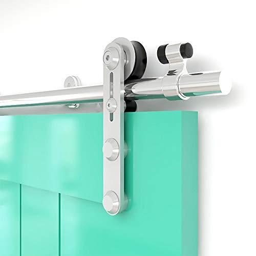 TSMST 183CM/6FT Sliding Door Track Barn Door Hardware Kit Closet Rail Roller Accessory Stainless Steel Material