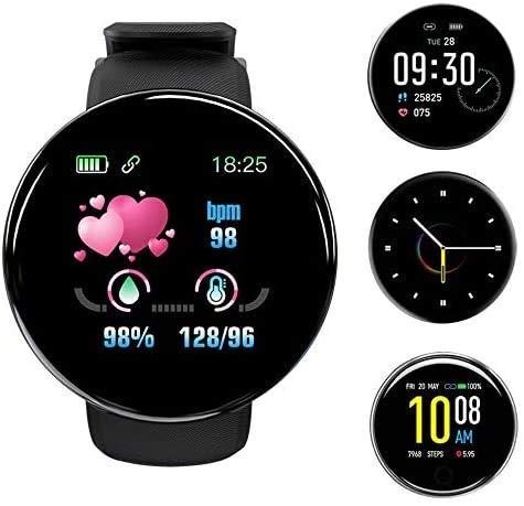 Smart Watch è adatto per telefoni Android e ios, compatibile con iPhone Samsung, smartwatch da nuoto impermeabile IP68 con fitness tracker, cardiofrequenzimetro, nero per uomo e donna 1