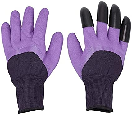 Plant Details about  /Garden Gloves pair with Claws for Digging,Planting ABS Plastic Rubber Dig