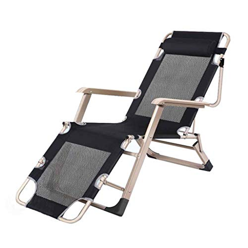 Fauteuil inclinable Pliant Zero Gravity Réglable Sun Lounger Garden Beach Chaises de Jardin Outdoor Portable Textilene Black