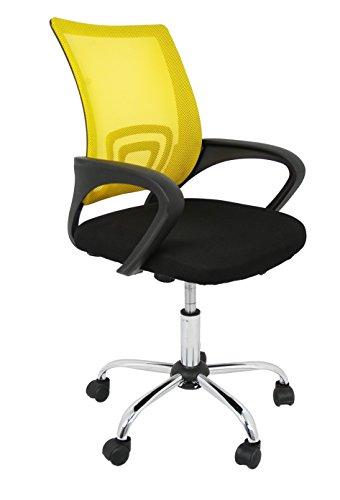 La Silla Española Ribadeo bureaustoel zonder hoofdsteun 61x58x89 cm Geel.