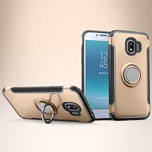 WANGZHEXIA Fundas para teléfono Galaxy Magnetic 360 grados rotación anillo funda protectora para Galaxy J2 Pro