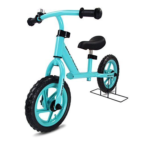 GOPLUS Laufrad 12 Zoll Laufräder Kinderlaufrad Lauflernrad Lernlaufrad Balance Bike mit Fahrradparker Farbwahl ab 2 Jahre (Blau)
