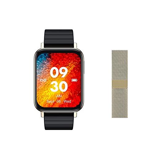 QKA Reloj Inteligente Deportivo De Nuevos Hombres, Esfera De Bricolaje De 1.65 Pulgadas, Rastreador De Fitness De Presión Arterial De Frecuencia Cardíaca, Smartwatch para Mujeres, para Android iOS,E
