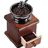 3d Creations Hand Grinder Coffee Bean Grinding Beech Wooden Base Stainless Steel Burr