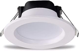 Koliyn Lámparas Planas Techo Aluminio Lámparas Techo Ultra Brillantes LED Lámparas Techo Redondas del Panel Parrilla Delgada Proyectores empotrables Blancos para Etapa del Centro Comercial