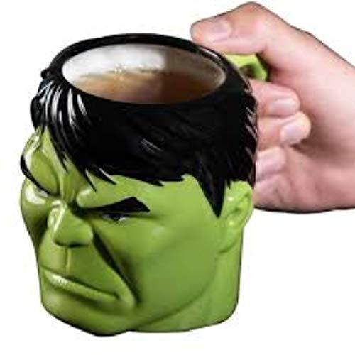 Taza de cerámica 3D con diseño de superhéroe Hulk, 450 ml, ideal como regalo para los fans de Hulk