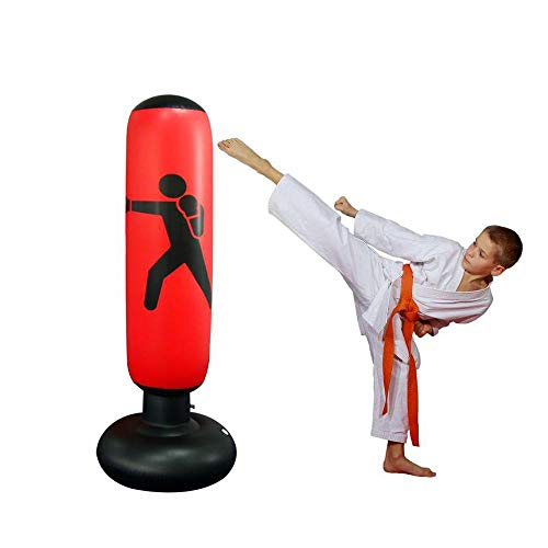 Womdee Saco de Boxeo para Mujer, Inflable, Saco de Boxeo y Saco de Boxeo con...