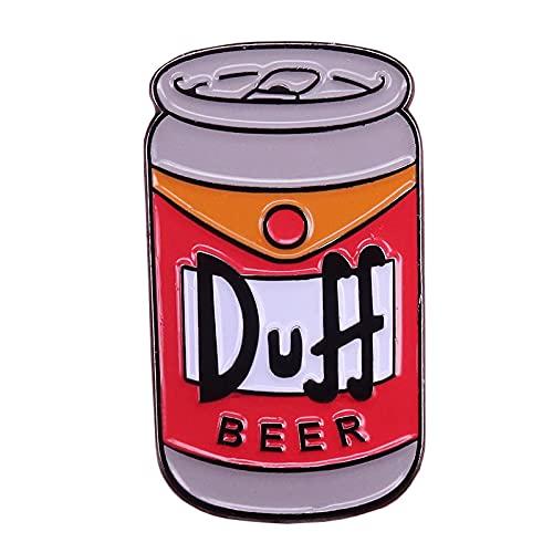 Bier Brosche Homers Getränke Abzeichen Amerika Cartoon TV-Serie Pins Alkohol Liebhaber Geschenk