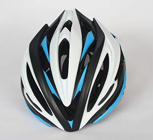 Kaper Go Fahrradhelm Reithelm Mountainbike-Helm Sport im Freien Reithelm Schutz Sicherheit Atmungsaktiv weiß/schwarz/blau