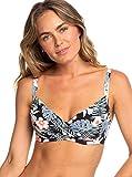 Roxy Beach Classics Haut de Bikini Balconnet Bonnet D Femme, Anthracite Tropicalababa Swim, FR : S (Taille Fabricant :...
