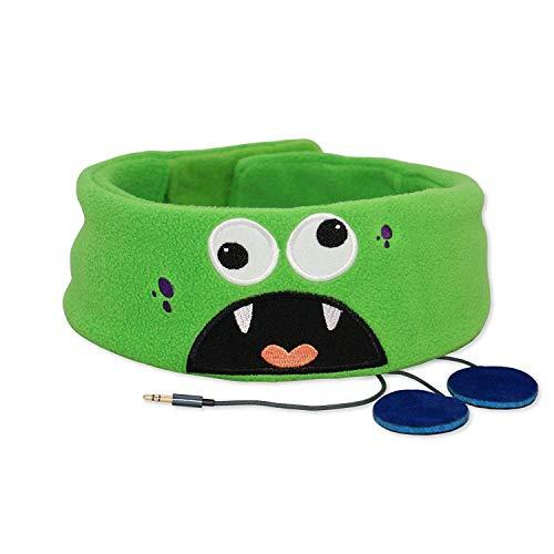 Snuggly Rascals (v.2) Kinder-Kopfhörer, Ultra-bequem, größenverstellbar und mit begrenzter Lautstärke (Vlies, Monster)