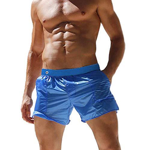 Imix city Maillot de Bain Hommes Plage,Lightweight Shorts pour Rapide Sèche Surf Running Natation Watershort avec Poches (Bleu, EU S (tag L))