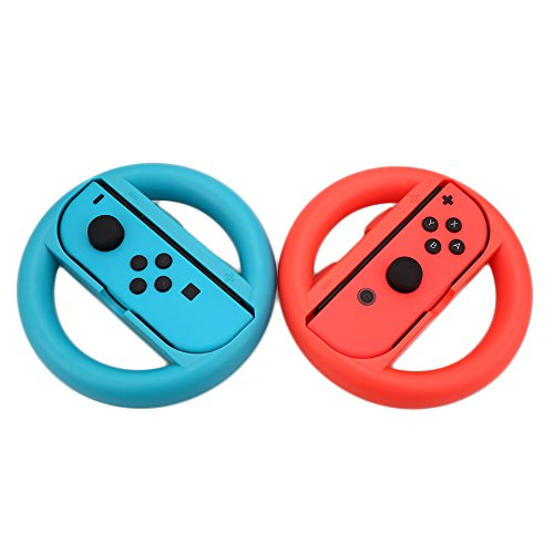 Cewaal Manopole Compatibile con Controller 2 manopole Mario Kart 8 Maniglie Compatibile con Switch Joy-con