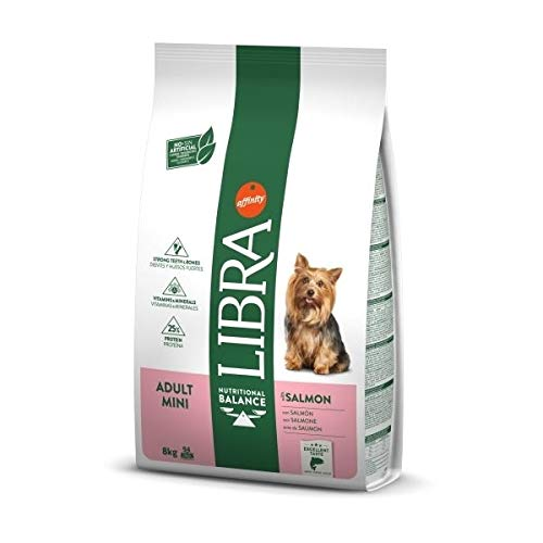 LIBRA Canine Adult Mini Salmon 8KG, Negro, Estandar, 8000