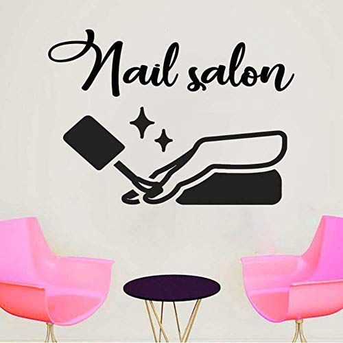 Nail Salon Nails Art Manucure Sticker Fenêtre Fenêtre Autocollant Design Main Autocollants Muraux Home Decor Salon Chambre Papier Peint 30x41cm