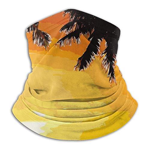 Lzz-Shop Twilight Sea Palm Tree Art Halswärmer - Kopfbänder Schal Kopfwickel, Hals Gamasche Rohr Angeln, Gesicht Sport Schal