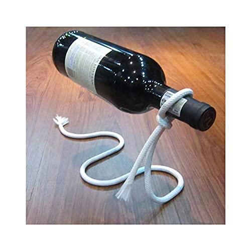 Estantería de vino, Boutique Wine Rackwine Rack, Personalidad Tinto Botella de vino Soporte Colgante Creativo Suspensión Forjada Hierro Cuerda Decoración (Color: C) / Código del producto: WW-309