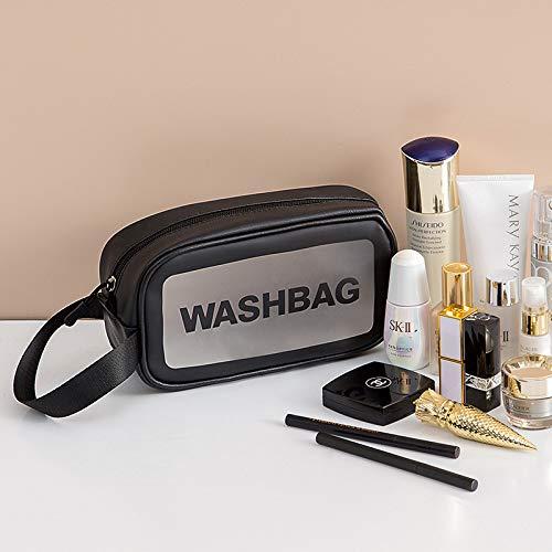 Transparent Travel Portable Large Capacity Storage Bag Waterproof Pu Toilet Bag Portable Cosmetic Bag Skin Care Product Storage Bag (26 * 16 * 9cm)