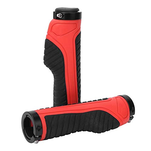 Bike Accessory Mountain Bike Handlebar Grips High Quality Durable 1 Pair,Suitable for Long-term Cycling(red)