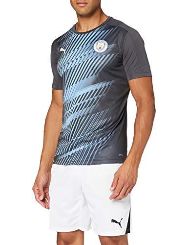 PUMA MCFC Stadium League Jersey Camiseta Polo, Hombre, Asphalt-Team Light Blue, M