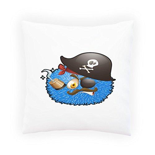 INNOGLEN Bälle Pirat Smile Lustig Dekoratives Kissen, Kissenbezug mit Einlage/Füllung oder ohne, 45x45cm u503p