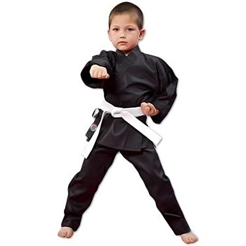 ProForce 6oz Student Karate Gi / Uniform - Black - Size 1