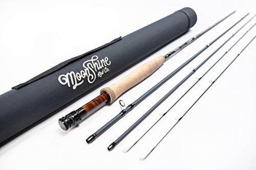 Moonshine Rod Co. The Vesper Series Fly Fishing Rod with Carrying Case and Extra Rod Tip Section - 5wt 9'