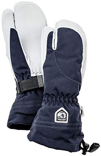 Hestra Damen Skihandschuhe, extra warm, Leder, 3-Finger-Finger-Fäustlinge, Damen, Marineblau/Offwhite, 7