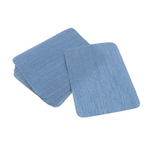 Sharplace 6 Pièces Fer sur Patchs en Tissu Denim Jean Patchs de Réparation Vêtements pour Veste Jean - Bleu Clair