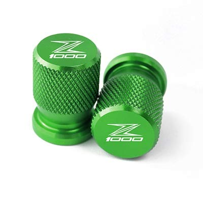 MUJUN Reserve Universalmotorrad Accessorie Rad-Reifen-Ventilkappen CNC Airtight Abdeckungen for Kawasaki Z1000 Z 1000 Z1000SX 2010-2019 (Color : Green)