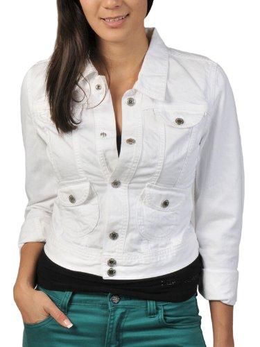 Pepe Jeans - Cazadora Vaquera, Mujer. Color: Blanco (m)