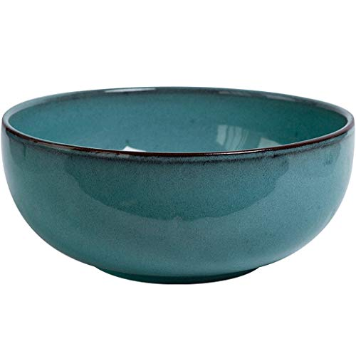 DS- Bol Bol en céramique - Bol à Fruits en céramique de ménage Salade rétro en céramique Bol à Soupe de Gros Calibre Dimensions: 22x9.5cm &&
