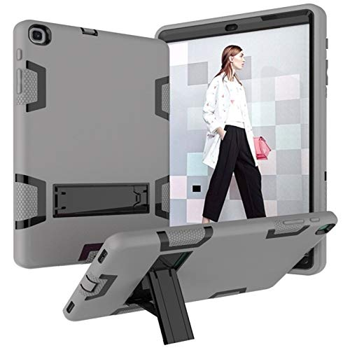 BZN For Samsung Galaxy Tab A 10.1 (2019) T510 Shockproof PC + Silicone Protective Case,with Holder (Color : Gray Black)