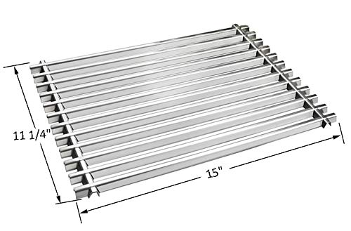 BBQ funland GS521 Aftermarket Stainless Steel Cooking Grid/Cooking Grates Replacement for Weber 7521, Lowes Model Grills and Others, Set of 2