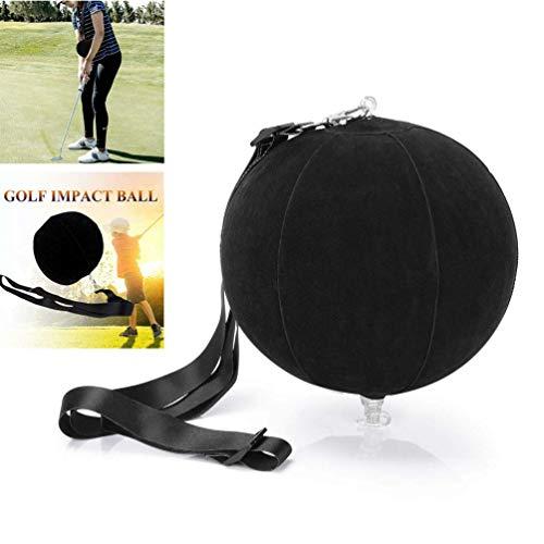 FunMove Golf Impact Ball Golf Swing Trainer Hilfe Smart Assist Übung Ball Unterricht Haltungskorrektur Training Einstellbar Intelligente Arm Motion Guide Schwarz (Schwarz)