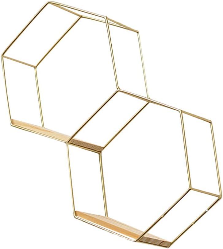 IMIKEYA Floating Genuine Shelves Metal Geometry Milwaukee Mall Decorative Wall Ai Shelf