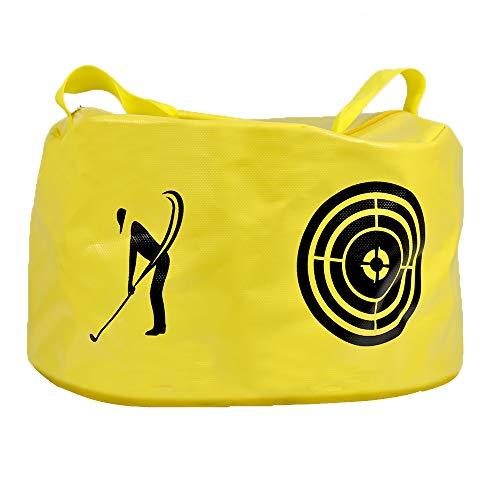 ASENVER Golf Swing Impact Trainer Bag Golf Power Smash Bag (Yellow- Target Pattern)