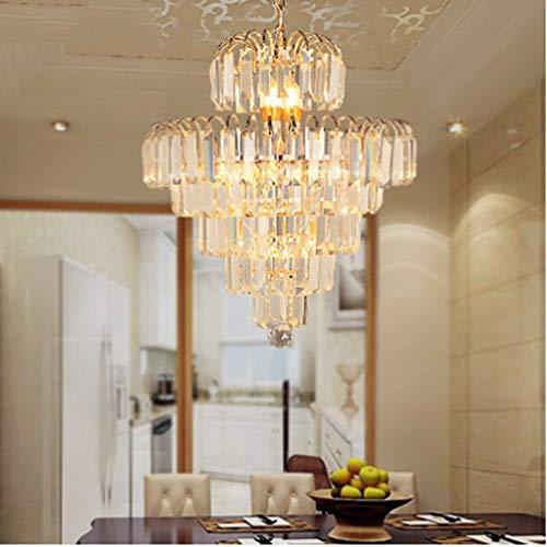 BAIJJ kandelaar voor eetkamer, slaapkamer, werkkamer, woonkamer, restaurant, huis, goudkleurig, rond, LED, kandelaar van glas A + (grootte: 60 x 65 cm)