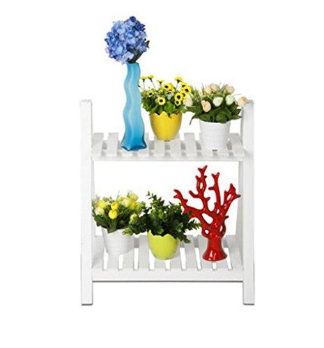 ZHDC® Porte-fleurs en bois massif, couches multiples salon balcon Étagère tombante blanc 50 × 32 × 57cm Stable fort espace de sauvegarde ( taille : 50*32*57cm )