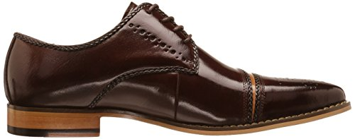 Stacy Adams Men's Talbot Cap Toe Oxford, Brown/Tan, 14 M US