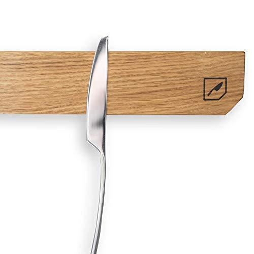 Rio Lindo Magnetischer Messerhalter HoldmyKnife aus geöltem Eichenholz in Premium Qualität inkl. Klebestreifen /100% Handarbeit/Unikat/für Messer/Scheren/ideal für die Küche