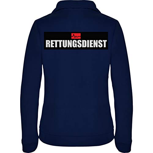 Rettungsdienst Damen Fleece Jacke Jacket Pullover Full Zip L17W navy blue (S)