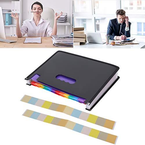 Carpeta de archivos expandible, organizador de archivos portátil de 24 capas, plástico duradero para la escuela y la oficina
