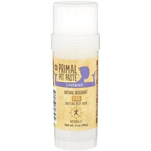 Primal Pit Paste All Natural Lavender Deodorant - Aluminum-Free, Paraben-Free, Non-GMO, Phthalate-Free for Women and Men - BPA-Free 2 Oz Convenience Jar - Scented with Natural Essential Oils