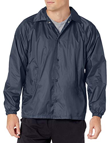 Augusta Sportswear Men's Nylon Coach's Jacket/Lined, Navy, Medium